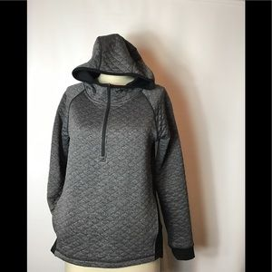 Smartwool gray/black 3/4 zipper hoodie size small